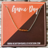Orange & Maroon Necklace