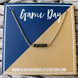 Navy & Yellow Necklace