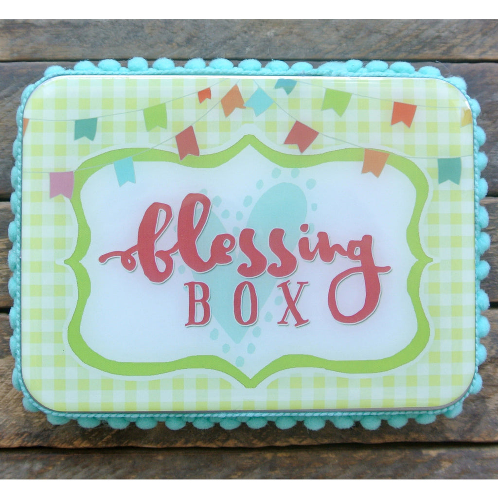 Gingham & Flags Blessing Box