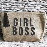 'Girl Boss' Jute Everything Bag