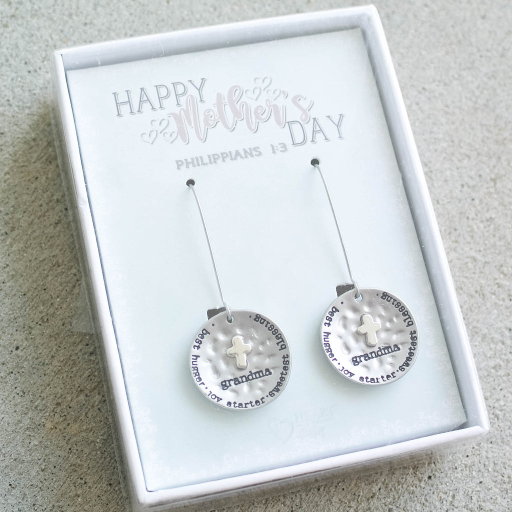 Silver Grandma Earrings