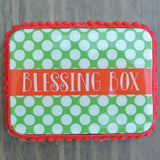 Green Polka Dot Christmas Blessing Box