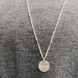 Saved Disc Necklace