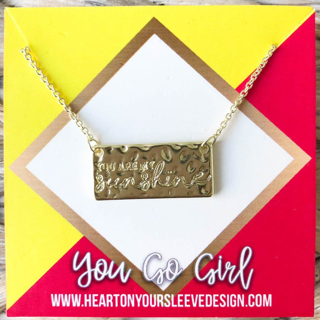 'You Are My Sunshine' Necklace