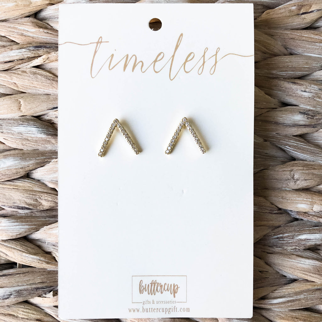 'Kourtney' Arrow Stud Earrings