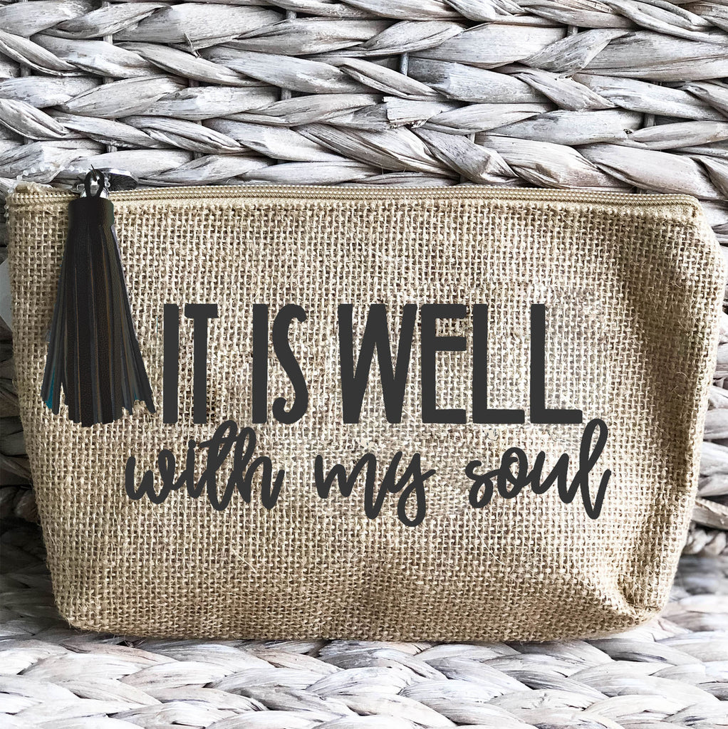 'It Is Well' Jute Everything Bag