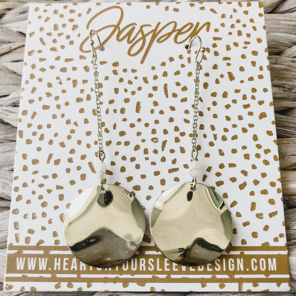 Isabelle Earrings - Cream