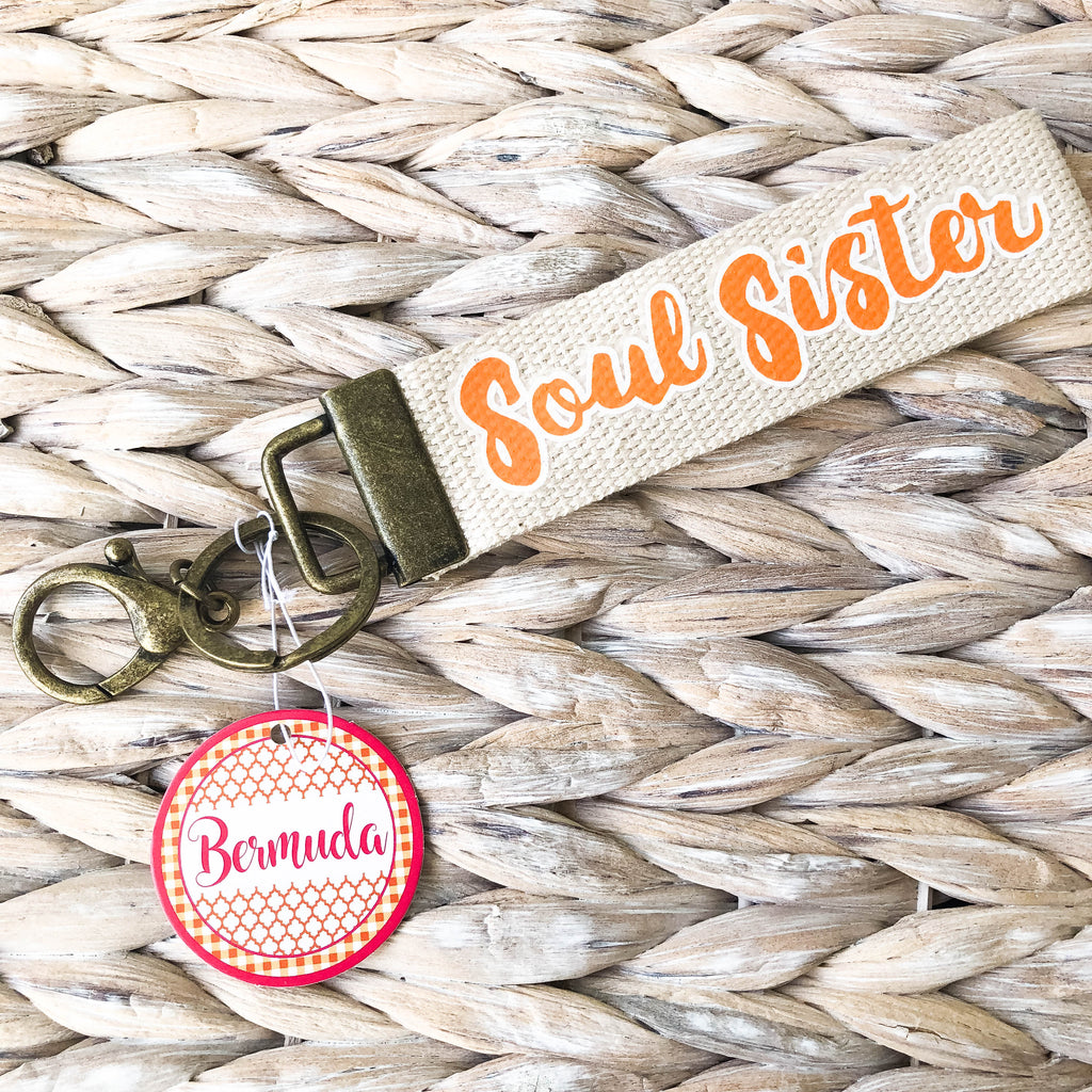 Orange Soul Sister Keychain