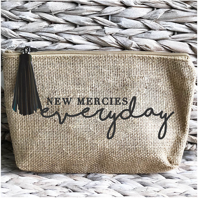 'New Mercies Everyday' Jute Everything Bag