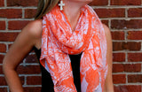 Orange and White Nature Scarf