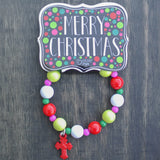 Red Cross Kid's Christmas Beaded Bracelet
