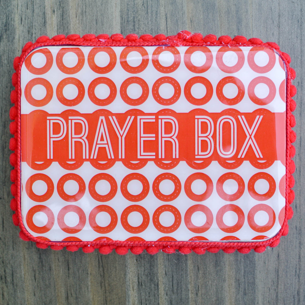 Red Polka Dot Christmas Blessing Box