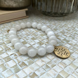 Brûlée Clear White Genuine Stone Bracelet