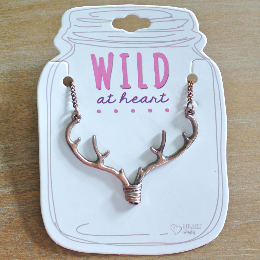 "Bronze Antler 18"" Necklace"