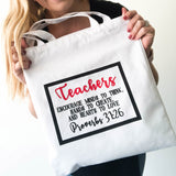 Teacher Canvas Tote