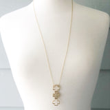 Gold Tri-Cross Necklace