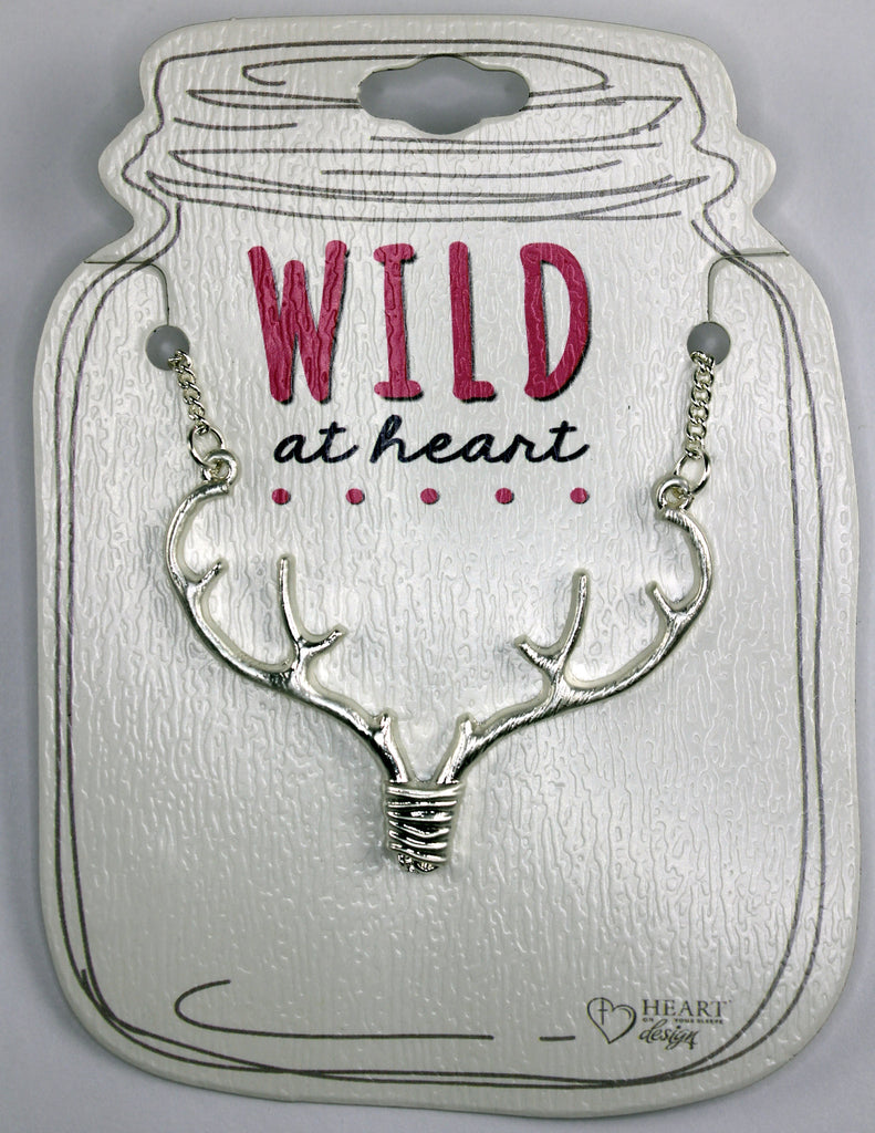 "Silver Antler 18"" Necklace"