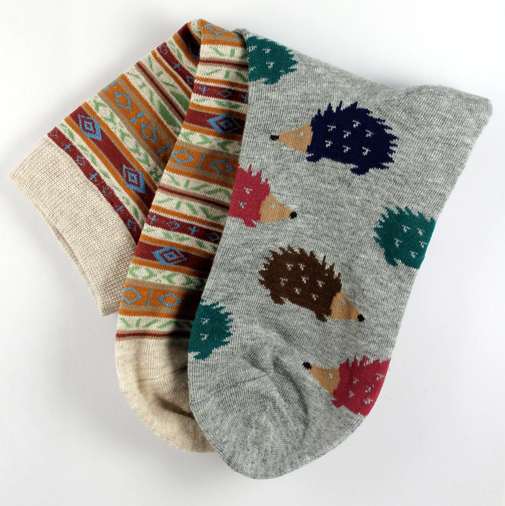 Tribal and Porcupine Mix n' Match Socks