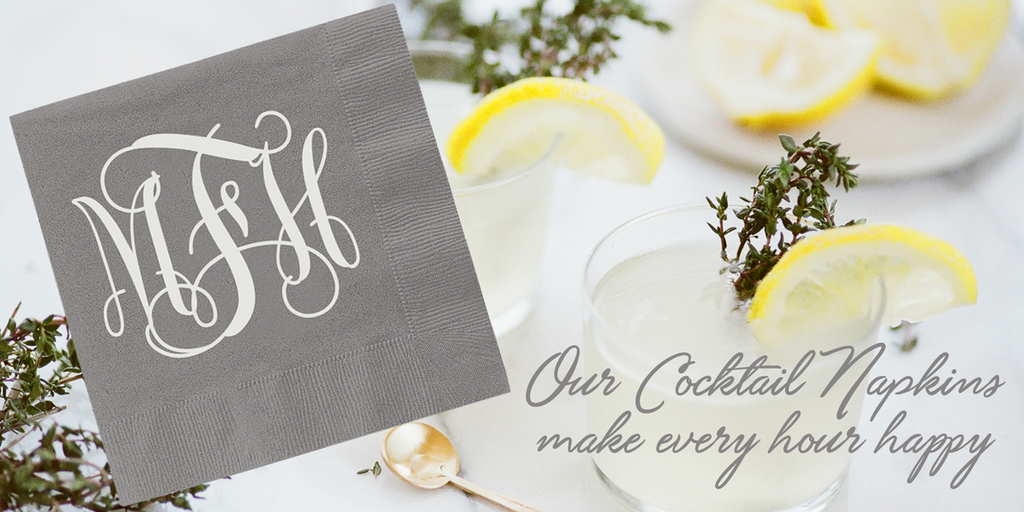 Monogrammed Paper Napkins from UncommonWares