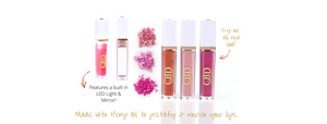 Bossy Pink Hemp CBD Lip Gloss 9ml