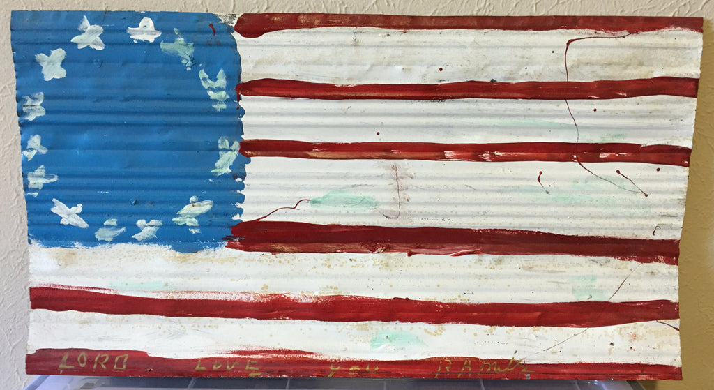 "R. A. Miller Painting ""Colonial Flag"" Large Metal - Traditional Art Limited"