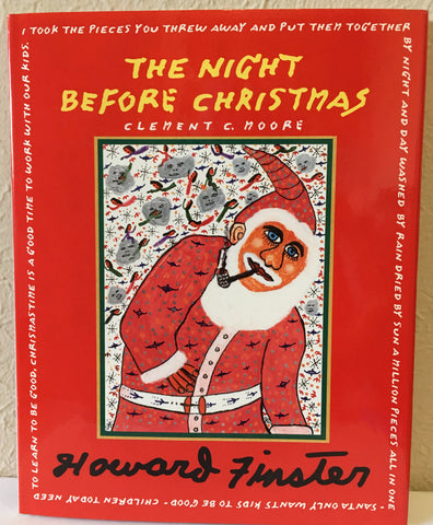 "Howard Finster Book and Coffee Mug ""The Night Before Christmas"" #1 livres d'artiste - Traditional Art Limited"