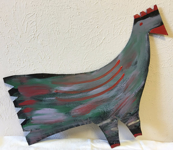 "R. A. Miller Painting ""Rooster - Chicken"" #1 – Left Profile Tin - Traditional Art Limited"
