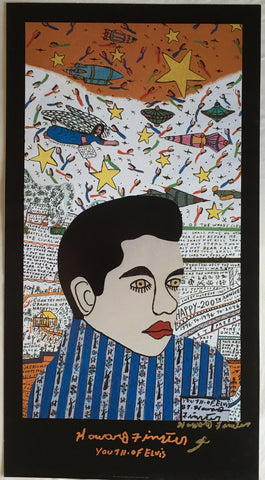 "Howard Finster Poster ""Youth of Elvis"" - Traditional Art Limited"