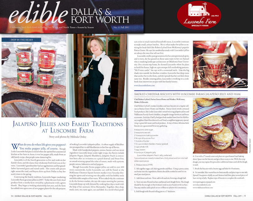 Edible Magazine Features Luscombe Farm