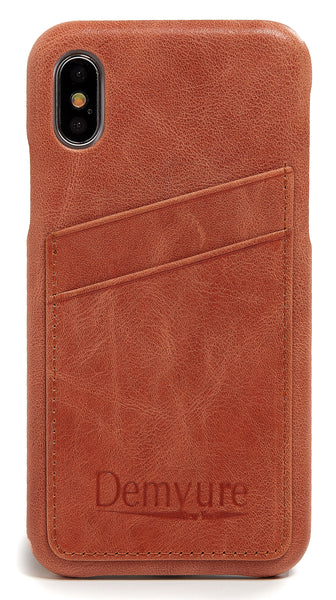 iPhone XR leather card case