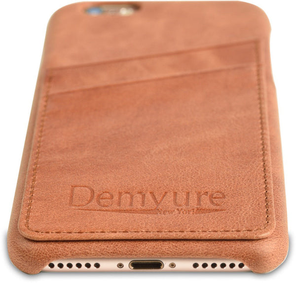 iPhone 8 leather card case by Demyure