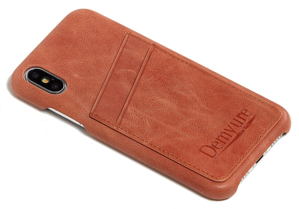 Iphone XS leather card case