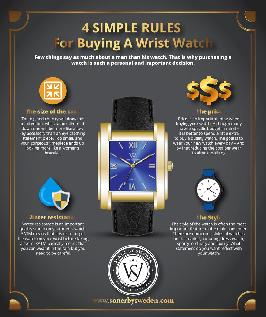 How to buy a mens watch - 4 simple rules for buying your next mens watch