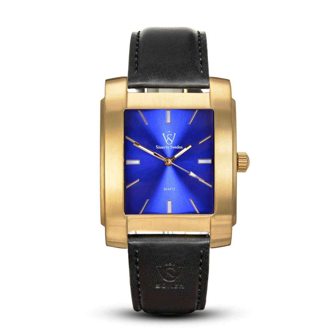 SQUARE MEN'S WATCH - LEGACY C Brushed gold - Blue dial