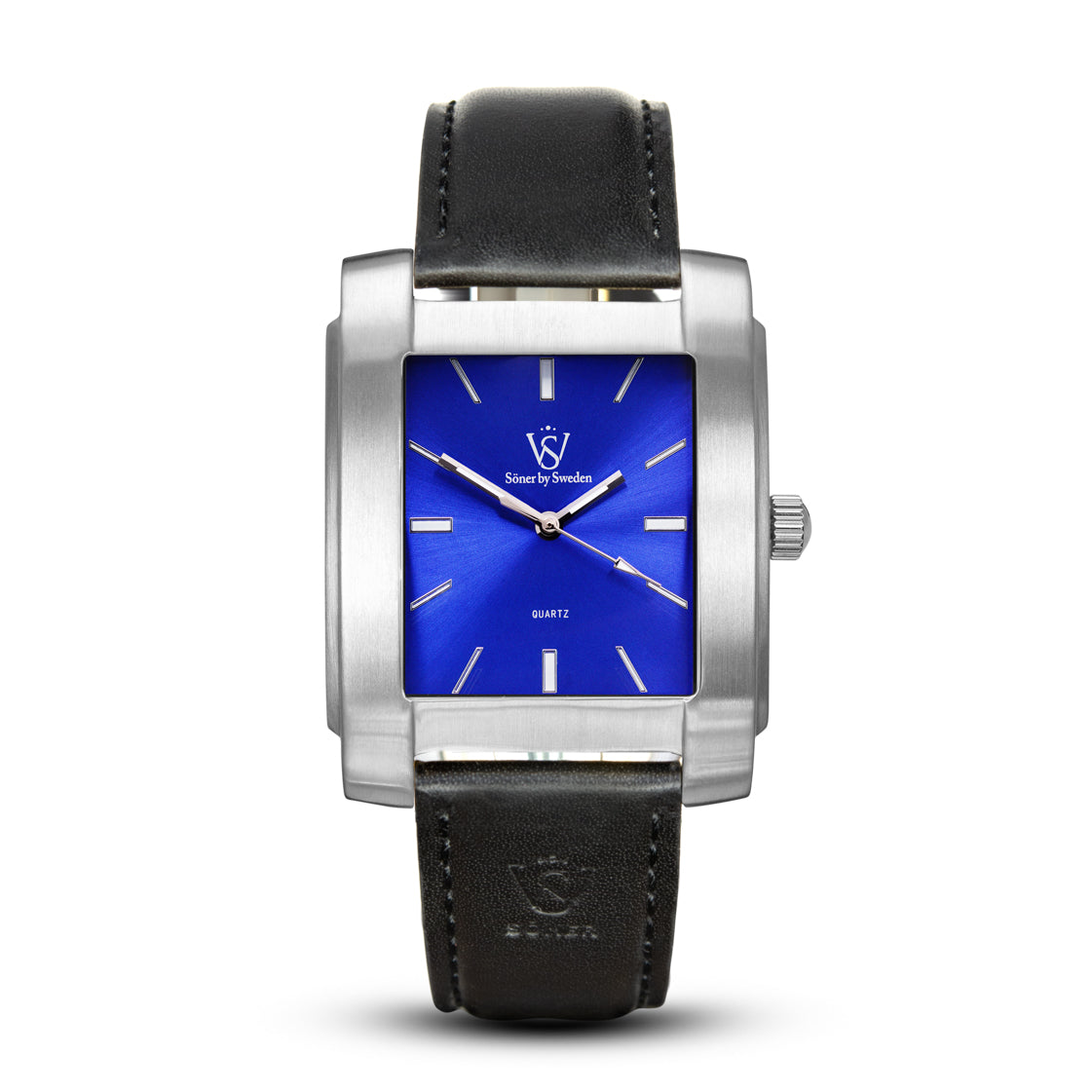 SQUARE MEN'S WATCH - LEGACY G Brushed steel - Blue dial