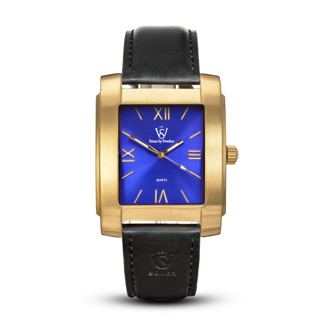 SQUARE MEN'S WATCH - LEGACY A Brushed gold - Blue dial