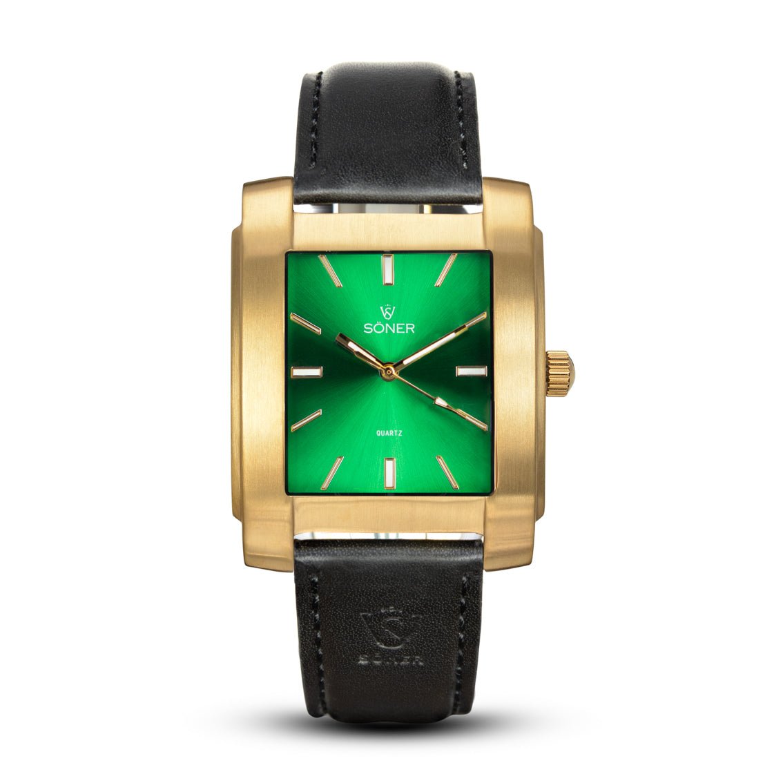 SQUARE MEN'S WATCH - LEGACY L Brushed gold - Green dial