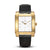 SQUARE MEN'S WATCH - LEGACY M Brushed gold - White dial