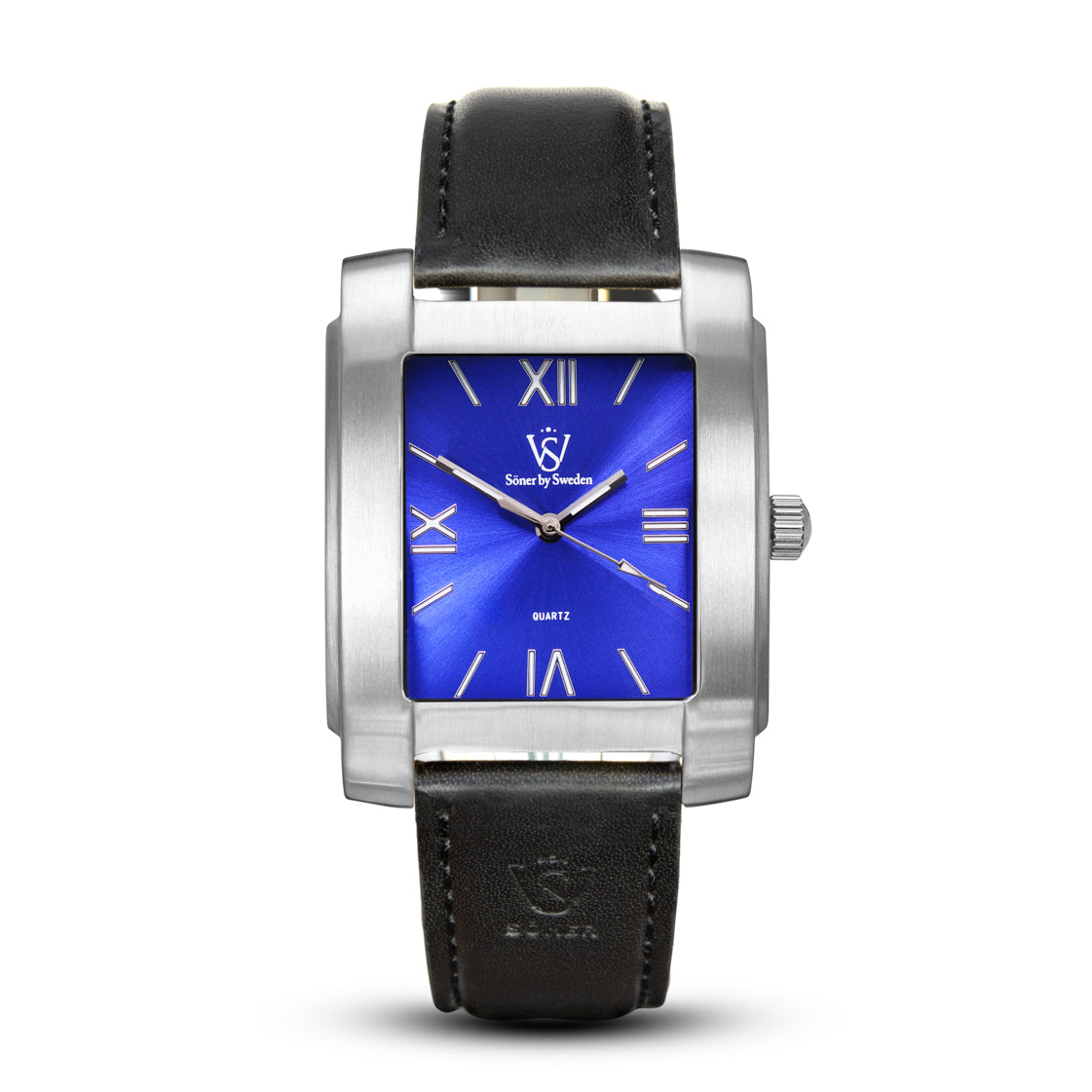 SQUARE MEN'S WATCH - LEGACY E Brushed steel - Blue dial