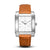 SQUARE MEN'S WATCH - LEGACY J Brushed steel - White dial