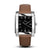 SQUARE MEN'S WATCH - LEGACY P Polished steel - Black dial
