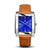 SQUARE MEN'S WATCH - LEGACY H Polished steel - Blue dial
