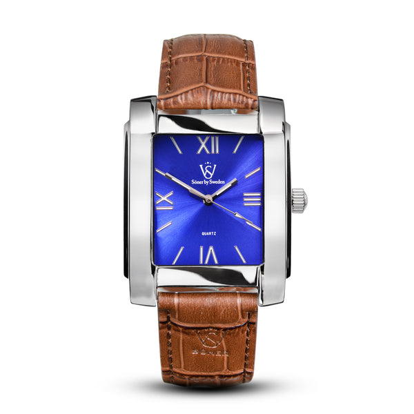 SQUARE MEN'S WATCH - LEGACY F Polished steel - Blue dial