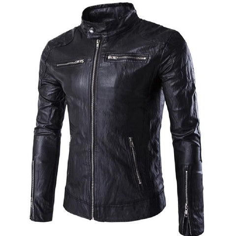 Leather Biker Bomber