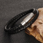 Leather / Steel Men's Bracelet #1