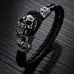 Leather / Steel Men's Bracelet SR