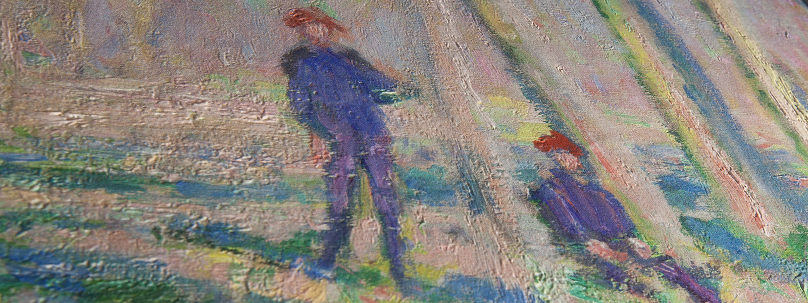 Monet Painting Close Up