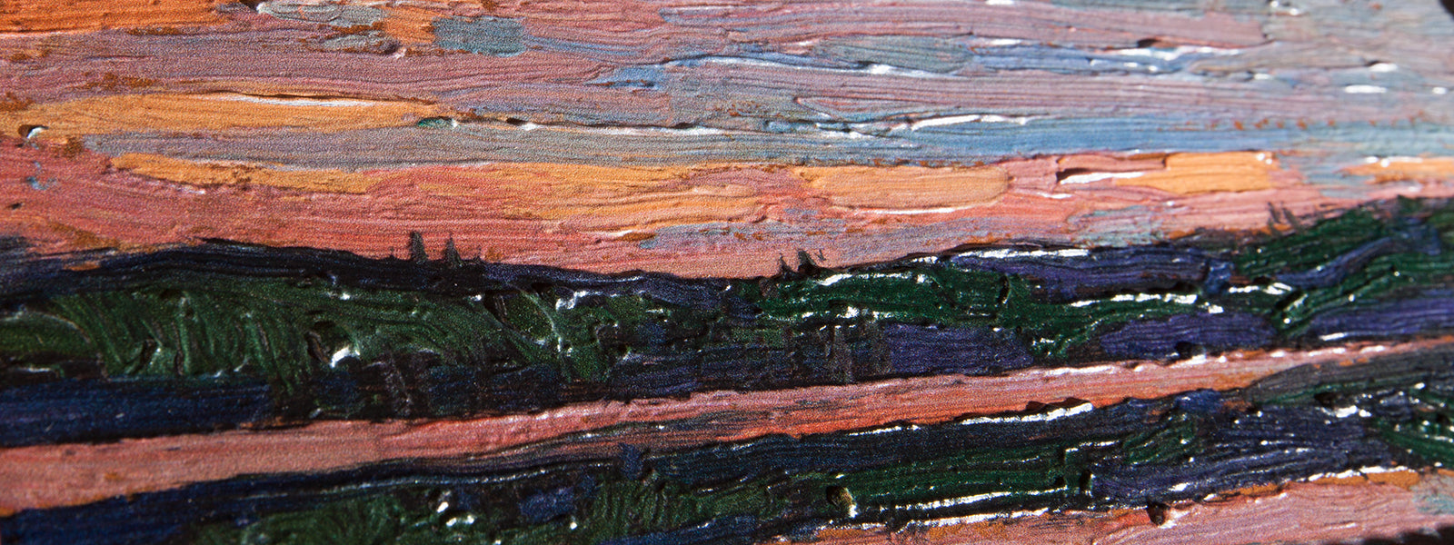 Sunset Sky, by Tom Thomson Painting Close Up