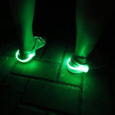 Outdoor Night Safety Cycling Running Jogging Sport Walking Shoe LED Light Clip
