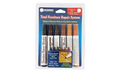 12 Total Furniture Repair System Scratches Piece Marker Wood Restore